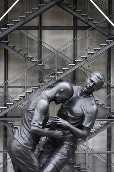 Zinedine Zidane's headbutt immortalized in bronze - an ode to defeat