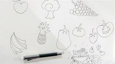 Teken groente en fruit. VIDEO