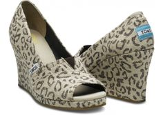 My next shoes... TOMS wedges in Snow Leopard!