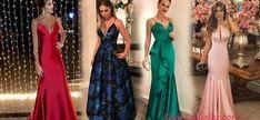2020 Uzun Basma Elbiseler Günlük Siyah Midi Kayık Yaka Uzun Kollu Desenli | Kıyafet Kombinleri Prom Dresses, Formal Dresses, The Dress, Backless, Satin, Fashion, Dresses For Formal, Moda, Formal Gowns