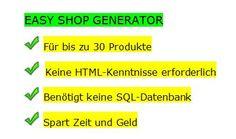 Ein toller #Shop- #Generator für 30 Produkte!