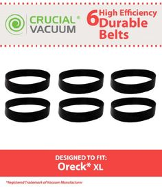 This Product comes in a pack of six replacement belts. These belts fits all #Oreck XL #Upright models. Replaces Oreck Part #030-0604, XL010-0604, xl010-0604 0404....