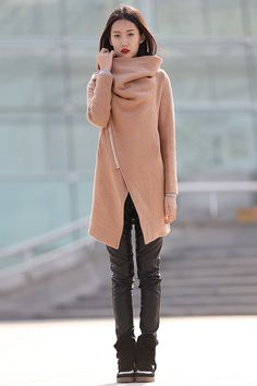 winter jackets for women brown wool coat-CF042 by YL1dress on Etsy