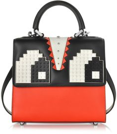 Les Petits Joueurs Mini Alex Eyes Color Block Leather Handbag at Forzieri 531b39a278edb