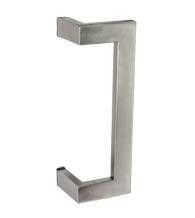 """10"""" Modern Stainless Steel Rectangular Offset Pull"""