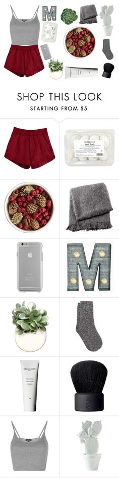 """""""Enjoy the little things"""" by bubble-627 ❤ liked on Polyvore featuring Pier 1 Imports, From the Road, Case-Mate, Crystal Art, WALL, White Stuff, Sachajuan, NARS Cosmetics and Topshop"""