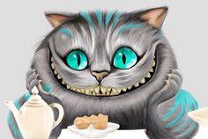 Cheshire Cat Fan art Tim burton Alice in wonderland