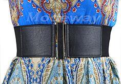 "Modeway® Womens 3""Wide High Waist Leather Plus Size Elastic Waist Belt Fashion Wide Belts for Woman Dress Decoration (XXL,Black)B1-4 Modeway http://www.amazon.com/dp/B00ZUKW2BK/ref=cm_sw_r_pi_dp_uCs7vb0WN40E9"
