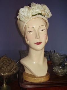 mannequins head. | her names jan, look at her beaty spot. | By: oldflowers4me | Flickr - Photo Sharing!