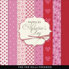 Far Far Hill: New Freebies Kit of Backgrounds - Valentine's Day