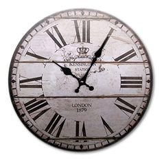 Uhr Wanduhr weiß schwarz antik Nostalgie Shabby Landhausstil XL Vintage groß Küchenuhr Küche wand Kensignton Sellixx http://www.amazon.de/dp/B00P0VJW80/ref=cm_sw_r_pi_dp_2LpYwb0F3KBKD