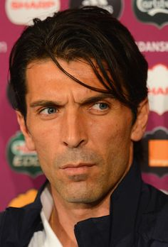 Gianluigi Buffon Photos Photos - In this handout image provided by UEFA, Gianluigi Buffon of Italy talks to the media during a UEFA EURO 2012 press conference at the Municipal Stadium on June 9, 2012 in Gdansk, Poland. - Italy Training and Press Conference - Group C: UEFA EURO 2012