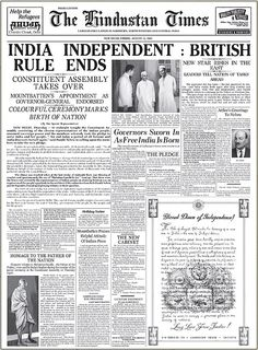 Rare Photograph Of Hindustan Times Newspaper When India Got Its