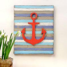 Anchor Home Decor | Anchor Pallet Home Decor Nautical Wall Art by Slippin Southern
