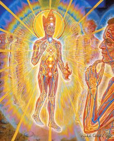 """panel 7   All beings and things included In the Bodhisattva's vow. Therefore a return to """"the world"""" But in touch with the timeless now.   An elixer of wisdom and compassion Does Maitreya bring to all. """"Everyone is a future Buddha. Listen deep for the inner call."""""""