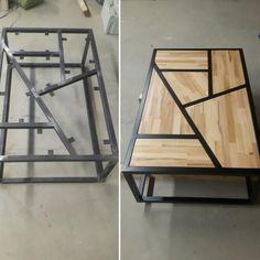 Table basse design Métal, bois