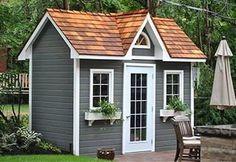 stylish blue shed summerwood