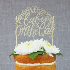 Baby On the Way Paper Cake Topper