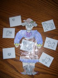 There was an old lady who swallowed.... Use a ziplock baggie to help make your own lady, and then put in a picture of all of the things she swallowed! You can put in the items from the book, or have kid create their own!