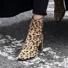 Leopard ankle booties Ankle booties leopard print! New worn , comes with a box . Only flaw is the 3rd picture ..manufacture defect of some sort ..overall it's a beautiful boots.. Price firm ! Matisse Shoes Ankle Boots & Booties