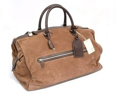 Shades of brown suede & leather make for a lovely duffel, by Brioni.     Find your own: http://www.frieschskys.com/bags     #frieschskys #mensfashion #fashion #mensstyle #style #moda #menswear #dapper #stylish #MadeInItaly #Italy #couture #highfashion #designer #shopping