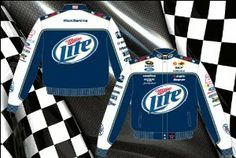 Brad Keselowski Miller Lite Mens Navy Nascar 2013 Twill Jacket by RacingGifts. $126.00. Since 1988, JH Design and Jeff Hamilton have been manufacturing the highest quality jackets in the world. Since their inception, quality has been the number one focus when producing a product for their customers JH Design offers a 100% cotton Heavy Brushed Twill Uniform Jacket with shoulder pads, Satin lining, and hidden stainless steel snaps. These jackets have all the license...