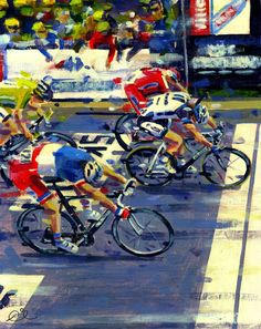 Such a nice painting! It's Marcel winning stage (Painted by: Rob Ijbema) Bicycle Painting, Bicycle Art, Bicycle Illustration, Illustration Art, 7 Arts, Bike Drawing, Bike Poster, Cycling Art, Cycling Quotes