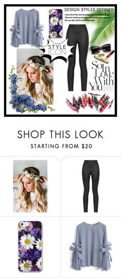 """""""style icon"""" by starn ❤ liked on Polyvore featuring Emily Rose Flower Crowns, Armani Jeans, Clinique and Chicwish"""