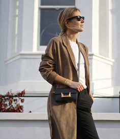 filippa k camel coat + saint laurent bag