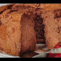 Dessert, Cake: Chocolate Angel Food Cake from Mix