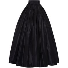 Naeem Khan Taffeta Ball Skirt (72,820 MXN) ❤ liked on Polyvore featuring skirts, bottoms, naeem khan, saias, taffeta maxi skirt, pleated skirt, high waisted long skirts, pleated maxi skirt and long taffeta skirt