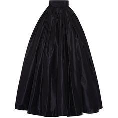 Naeem Khan Taffeta Ball Skirt ($3,990) ❤ liked on Polyvore featuring skirts, bottoms, long skirts, pants, long pleated skirt, taffeta maxi skirt, high waisted skirts and high waisted long skirt