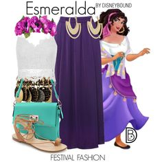 Disney Bound: Esmeralda from Disney's Hunchback of Notre Dame (Festival Fashion Outfit) Disney Cosplay, Disney Costumes, Estilo Disney, Disney Themed Outfits, Disney Dresses, Disney Clothes, Festival Mode, Festival Fashion, Casual Cosplay