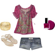 Love the outfit except for the shorts....Summer Clothes, created by ealban on Polyvore