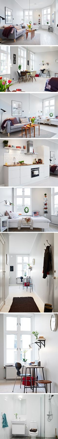 Small swedish apartment! Maybe a little cold but really nice, all in all!