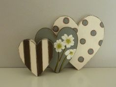 Herzenskulptur, Christrosen von Woodlouse auf DaWanda.com