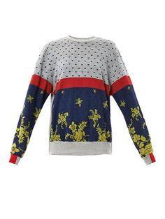 Colour-block multi-print sweatshirt | Preen | MATCHESFASHION.COM