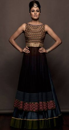 anarkali inspired by the Lotus Gate of City Palace-Jaipur. Design by Sonam and Paras Modi