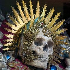 The skull of St Benedictus in Muri, Switzerland