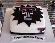 Texas Tech cake- i like the black background!