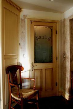 pantry door half glass half wood