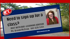Meet with our eLearning Advisor, Brandi McCraw