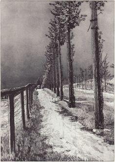 Max Klinger(German, 1857-1920) The Road  1883 etching
