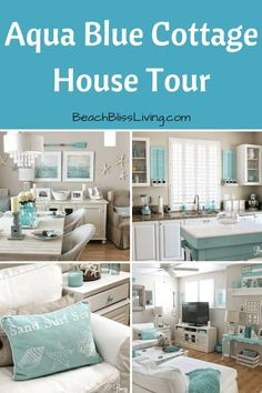 Easy Breezy Living in an Aqua Blue Cottage House Tour