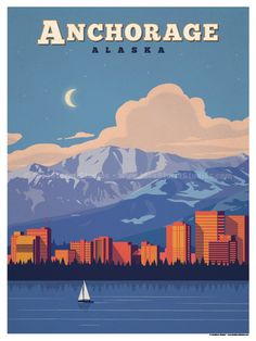 Anchorage Poster by IdeaStorm Studios ©2017. Available for sale at ideastorm.bigcartel.com