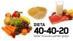 Dieta 40-40-20  http://www.mipielsana.com/perder-peso-y-ganar-musculo/