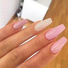 Hot Color Shades to Stay Fashionable with Ballerina Nails ❤ Sweet Nude Pink for All Nail Shapes picture 3 ❤Ballerina nails seem to be not for everyone. Yet, once you learn about the perfect shades to combine with this shape you will definitely change your mind!https://naildesignsjournal.com/ballerina-nails-colors/  #nails #nailart #naildesign  #coffinnails