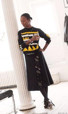 Style Story: Shala Monroque, prints, The Line / Garance Doré