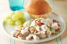 Apple Orchard Chicken Salad ( add sliced grapes and/or dried cranberries for some deliciousness)