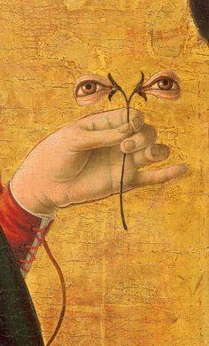 Francesco del Cossa - Saint Lucy (detail), ca. 1473-1474